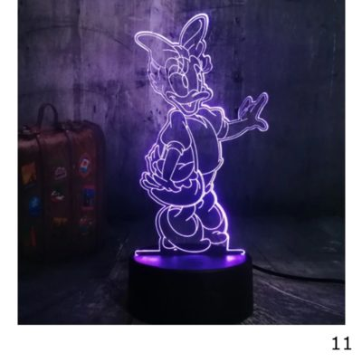 3D LED valaisin