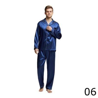 Miesten satiinipyjama